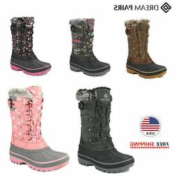DREAM PAIRS Kids Boys Girls Snow Boots Winter Warm Lace Up W