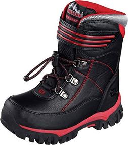 Skechers Boys' Arktic Cold Weather Boot,Black/Red,US 11 M