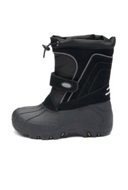 Totes Kids Boys Size 5 Tate Black Snow Boots Waterproof $64.