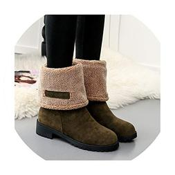 Women Casual Winter Warm Fur Snow Boots Mid-Calf Boots Shoes