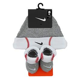 NIKE Infant Hat and Booties Sock Set , 0-6 Months)