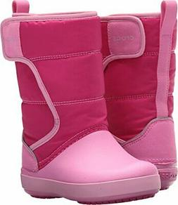 Crocs Kids' LodgePoint Snow Boot, Pink, Size 10.0 w9Oi