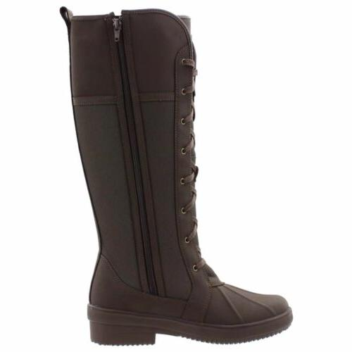 Clarks Brown Boots Winter Lined Canvas