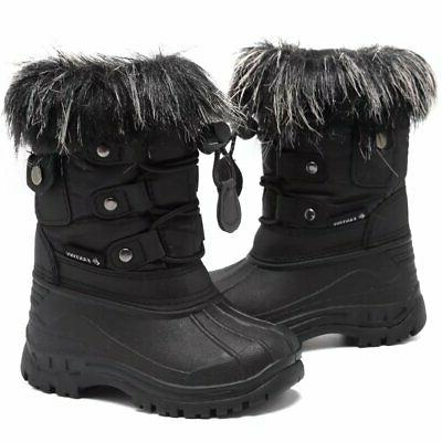 CIOR and Girls' Snow Boots Waterproof With Fu