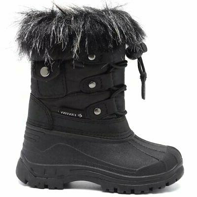 CIOR FANTINY Boy Girls' Winter Toddler Boots With Fu