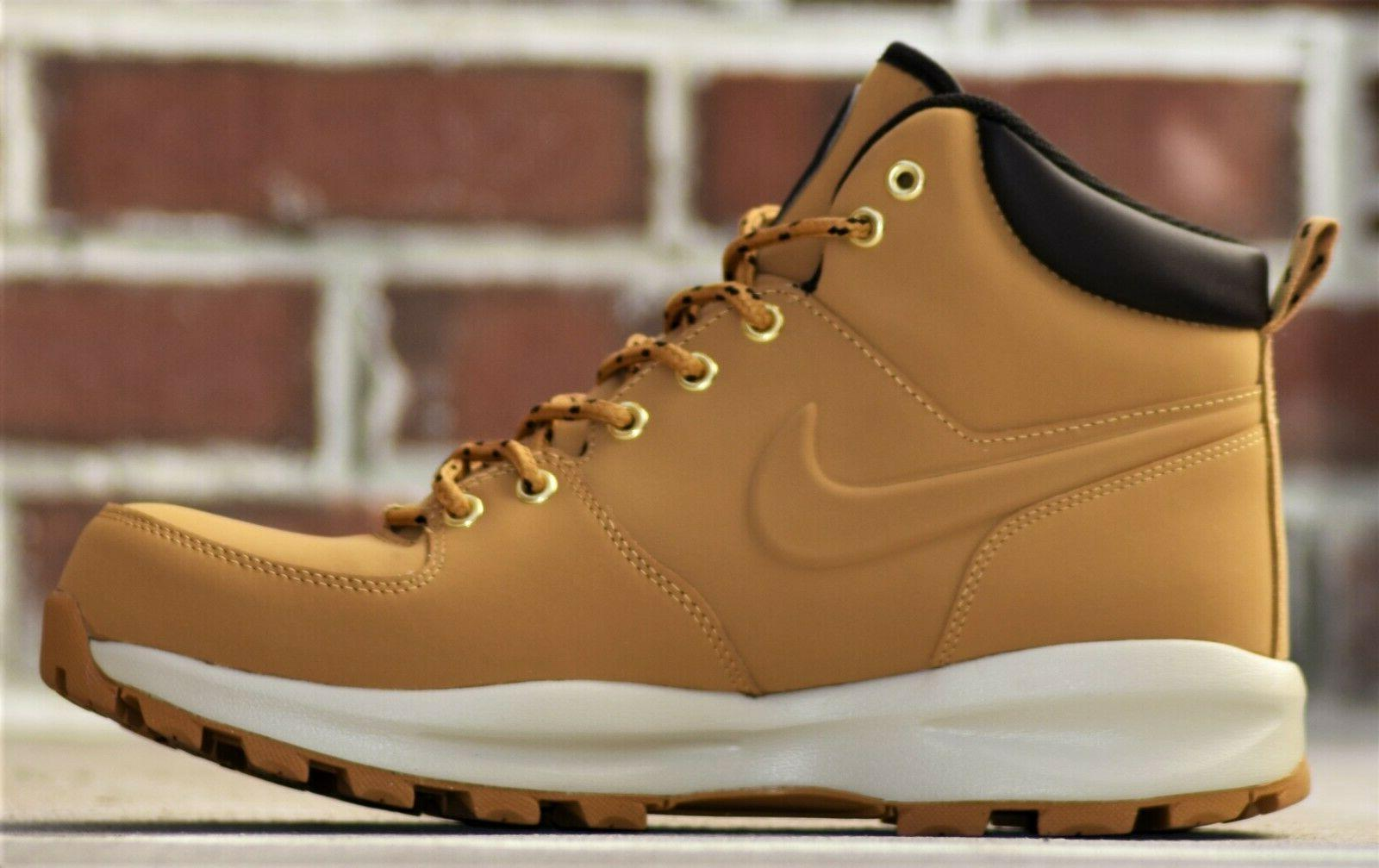 Nike Manoa Leather New Men's Wheat Haystack Boots Winter