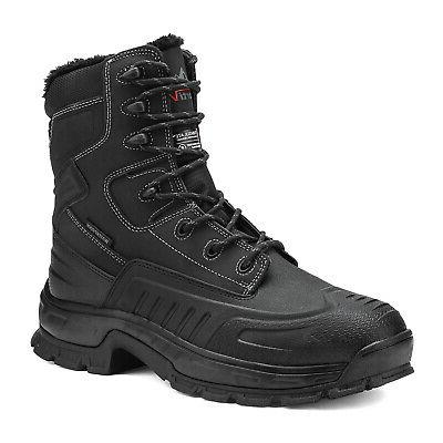 NORTIV Men's Lace Up Insulated Waterproof Boots
