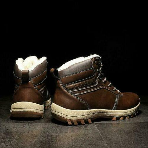 Men's Snow Shoes High Top Worker Cargo Winter Warm Lace Up Fashion