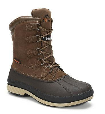 NORTIV Lace Up Insulated Waterproof Outdoor Winter Boots