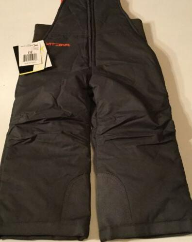 Arctix Infant/Toddler Insulated Snow Bib Overalls,Charcoal,4