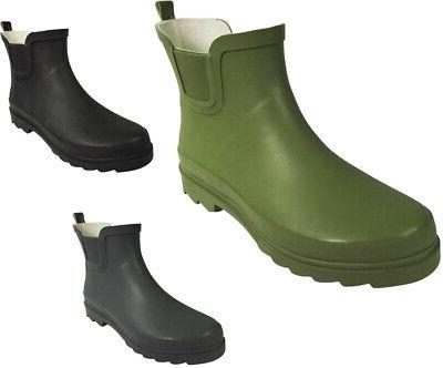women low ankle high rain boots rubber