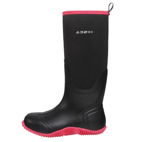 HISEA Rain Snow Boots Insulated Winter Rubber Muck & Hunting Boots