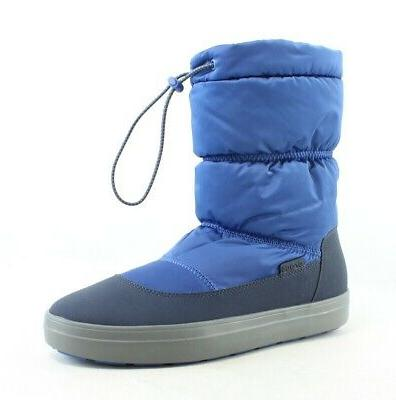Crocs Womens Lodgepoint Blue Jean/Navy Snow Boots Size 9