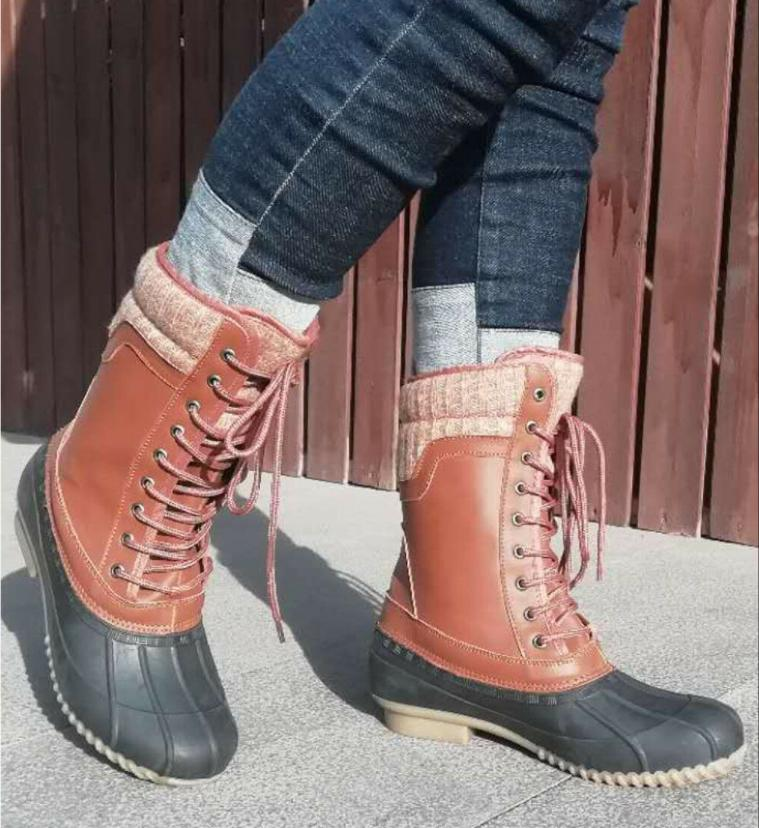 Womens Waterproof Rubber Hiking Snow Lace Size 11