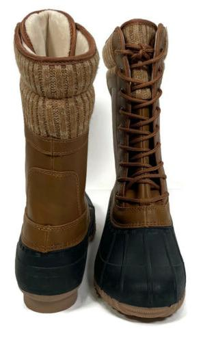Womens Hiking Snow Lace Up Boots Size