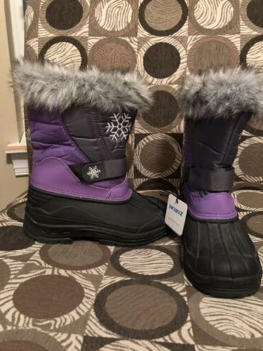 yourh girls snowflake stompers with faux fur