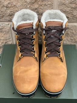 Timberland Men's Fleece Lined Wheat Snow Boots Size 8.5