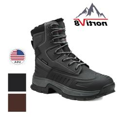 NORTIV 8 Men's Lace Up Snow Boots Warm Insulated Waterproof