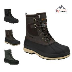 NORTIV 8 Men's Snow Boots Insulated Waterproof Rugged Duty O