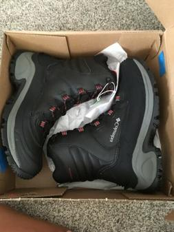 Columbia Mens Bugaboot Iii Black, Bright Red Snow Boots Size