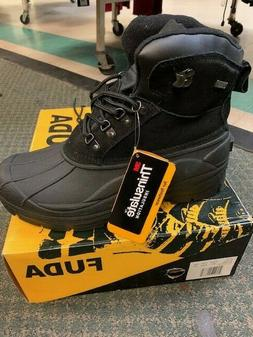 Mens Snow Boots Insulated Waterproof Genuine Leather Trinsul
