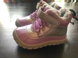 New Wonder Nation Girls Snow Boots Infant Toddler Size 6 Pur