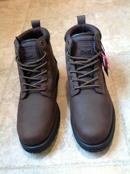 NEW LEVI'S Men's Work Boots Size 8 1/2 8.5 Brown winter snow