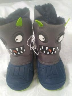 NWT BOYS CAT & JACK BOYS TODDLER SIZE 6 SNOW BOOTS MONSTER