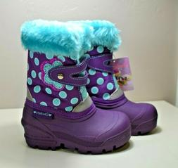 NWT GIRLS TODDLER SKECHERS WATERPROOF INSULATED SNOW BOOTS S