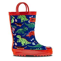 LONECONE Rain Boots with Easy-On Handles in Fun Patterns for