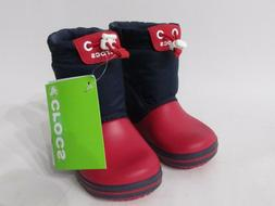 CROCS Toddler Boys Boots Lightweight Pull On SNOW BOOTS Navy