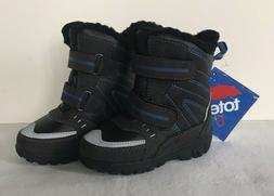 Totes Tommy Toddler Boys Winter Snow Boots Black SIZES 7T, 8