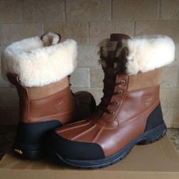UGG Butte Worchester Waterproof Leather Sheepskin Snow Boots