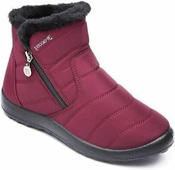 gracosy Warm Snow Boots, Women's Winter Ankle Bootie Anti-Sl
