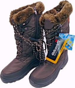 ARCTIV8: WATERPROOF SNOW BOOTS, FAUX FUR & THINSULATE, BROWN