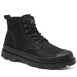 Lannmart Large Size 12 Winter Boots Men Genuine Leather Snow