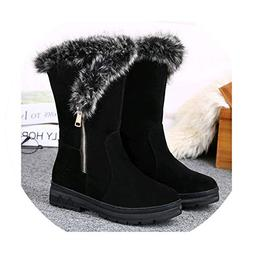 Women Winter Shoes Women's Middle Barrel Boots The New 2 Col