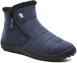 JOINFREE Womens Anti-Slip Snow Boots Warm Ankle Shoe with Fu