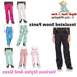 Women Snow Pants Insulated Snowboard Ski Winter Water Resist