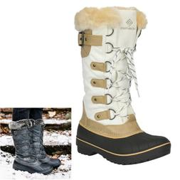 Womens Insulated Waterproof Winter Snow Boots Fur Lined Warm