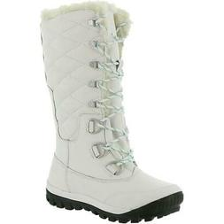 Bearpaw Womens Isabella White Wool Snow Boots Shoes 8 Wide