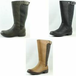 UGG Womens Janina Leather Fashion Tall Waterproof Snow Boots