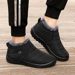 Womens Winter Snow Boots  Plush Lining Flat Ankle Waterproof