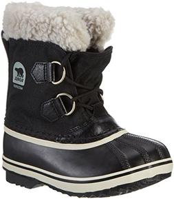 Sorel Yoot Pac Nylon Cold Weather Boot, Black, 8 M US Toddle
